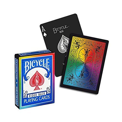 Jeu de cartes Bicycle - Rainbow BLACK
