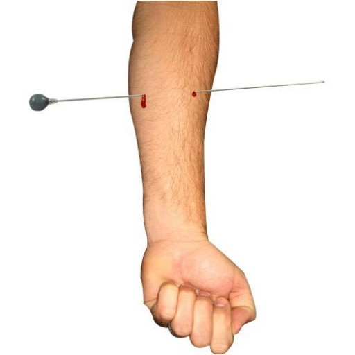 Aiguille a travers le bras (Needle through arm) ECO