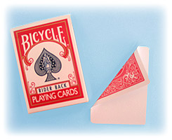 Jeu Bicycle dos rouge face blanche
