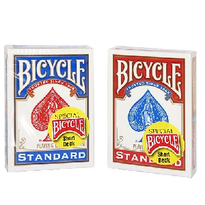 Jeu Bicycle SHORT (52 CARTES COURTES)  DOS ROUGE