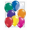 Ballons rond qualatex  5&#39 (poche de 100) assortiment