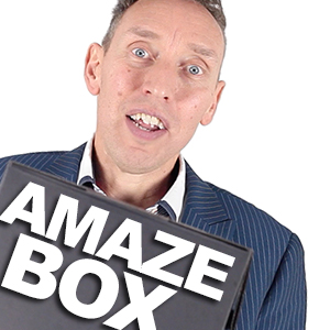 AmazeBox Black (Gimmicks and Online Instructions) by Mark Shortland and Vanishin