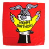 Foulard en soie Lapin 'Happy Birthday' (90 X 90 Cm)