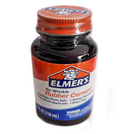 Rubber Cement (Flacon de 118ml)