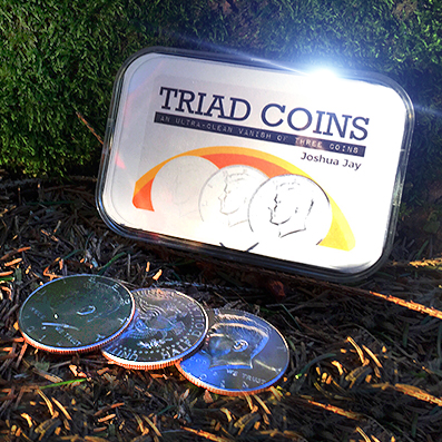 Triad Coins (US Gimmick and Online Video Instructions) by Joshua Jay