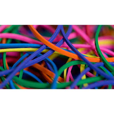Elastique Rainbow Rubber Bands Joe Rindfleisch