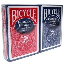 Bicycle - Vintage Design #5 Cupid Back DOS BLEU