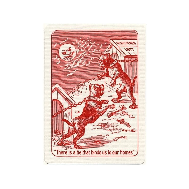 Bulldog Squeezers Playing Cards Red