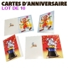 Carte anniversaire - lot de 10