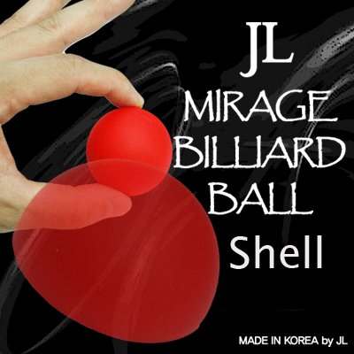 "Coquille Mirage Billiard Balls  ROUGE - 2"" - 5 cm"