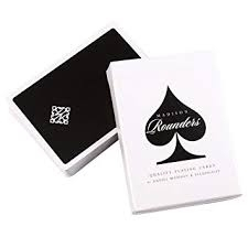 Jeu de cartes Rounders noir de Madison -