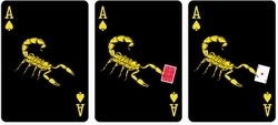 Jeu Bicycle Scorpion / Black Scorpion Deck